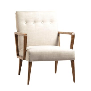 Mid-Century White Arm Chair