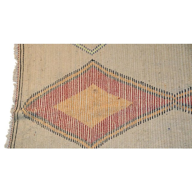 "Moroccan Vintage Beni Ouarain Rug - 5'9""x8'8"" - Image 4 of 4"