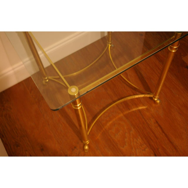 Brass & Glass Hoof Foot Side Table - Image 4 of 5