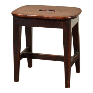 Small 19th Century English Georgian Oak Stool