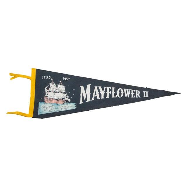 Vintage Mayflower II Felt Flag Banner - Image 1 of 2