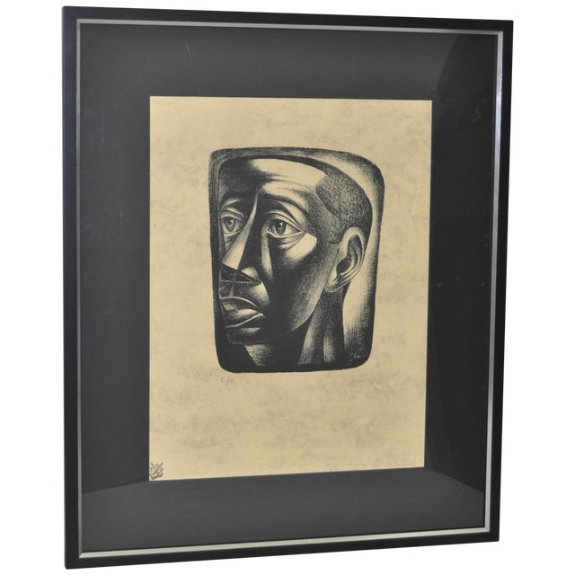 "Charles White ""Joven"" Lithograph, C.1946 - Image 1 of 7"