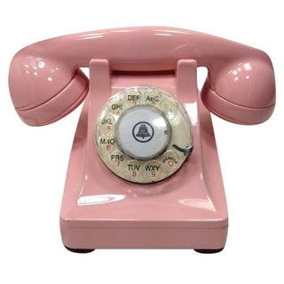 Pink Western Electric Lucy 302 Rotary Dial Phone