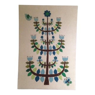 Vintage Tree of Life Textile Wall Art