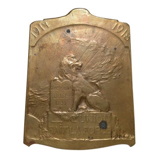 Constitution BELGE 1831 Bronze Plaque c.1918