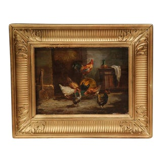 19th C. Gilt French Country Paintings - A Pair