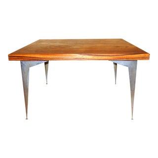 Mid-Century Modern Zebra Wood Coffee Table