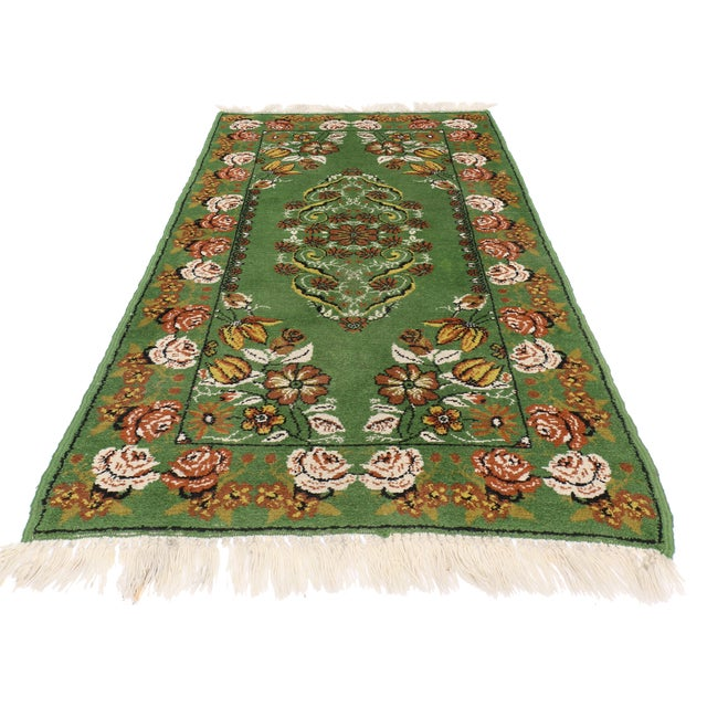 "Boho Chic Vintage Moroccan Tribal Rug With Modern Traditional Style, 2'9"" X 4'7"" - Image 2 of 5"