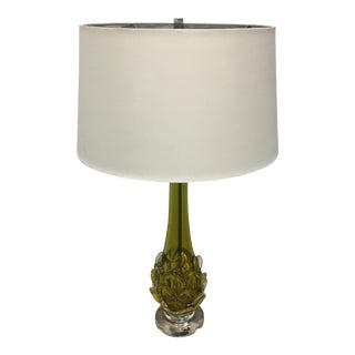 New Green Glass Bottleneck Table Lamp