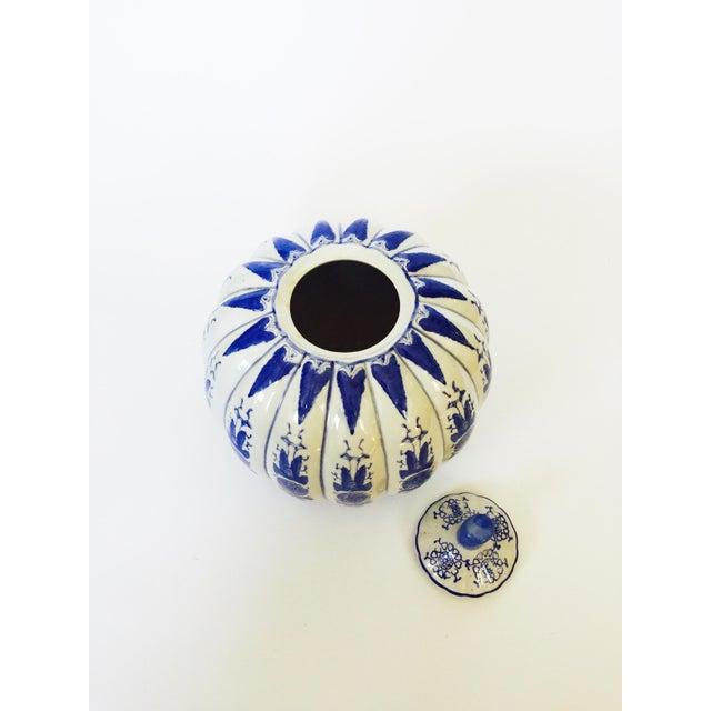 Image of Vintage Blue & White Ginger Jar