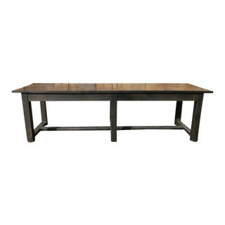 Extra Long 19th Century Painted Farm Table