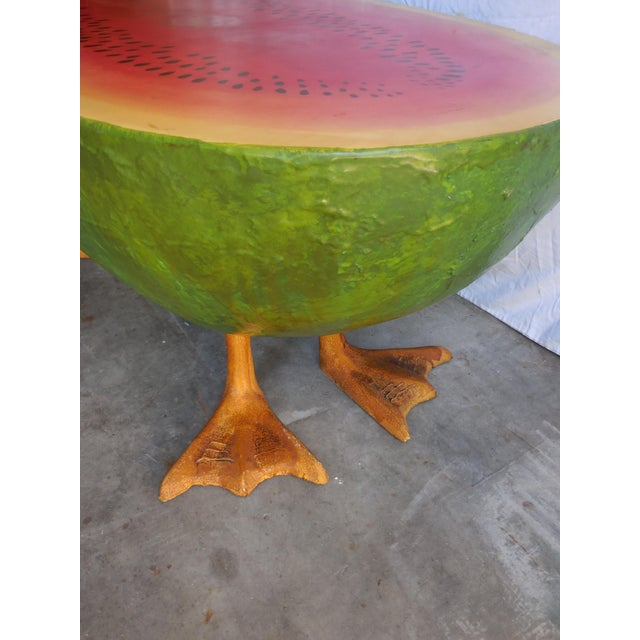 Mid-Century Fiberglass Watermelon Coffee Table - Image 7 of 7