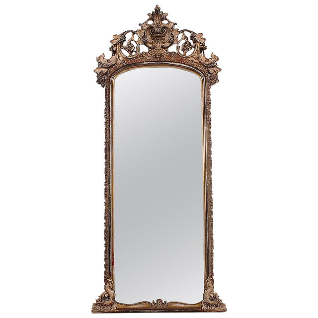 Late-19th Century Large Standing Italian Mirror - Image 1 of 9