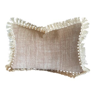 Fringed Blush Sparkle Pillow