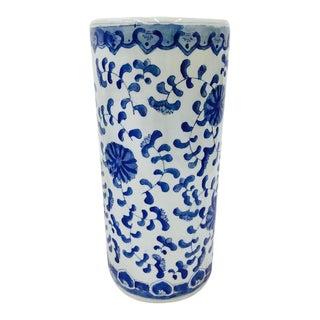 Vintage Blue & White Asian Style Ceramic Umbrella Stand