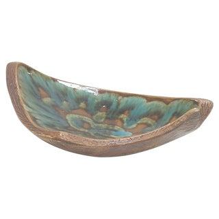 California Pottery Ceramic Faux Bois Asymmetrical Console Bowl