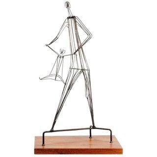 Kinetic Wrought Iron Sculpture by Robert Kuntz