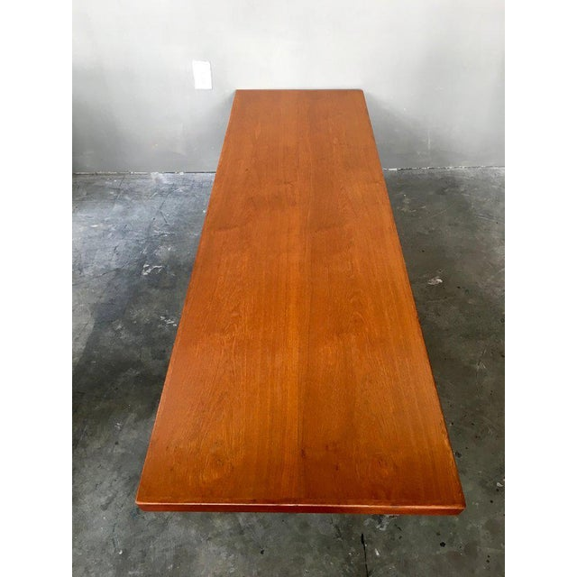 Danish Modern Coffee Table Bench W/ Slide Out Trays - Image 7 of 7