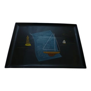 Mid-Century Couroc Sailboat Serving Tray