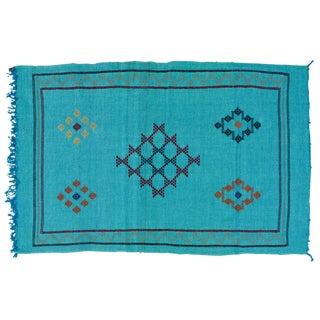 Blue Moroccan Cactus Silk - 4'9'' X 3'