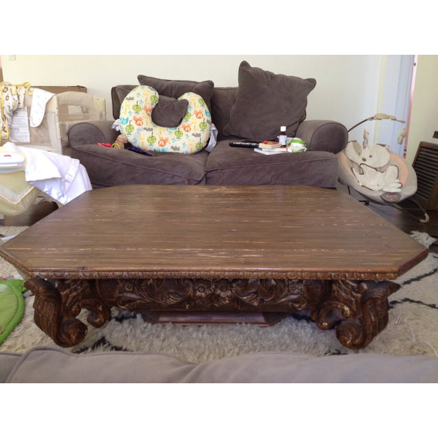 Restoration Hardware Baroque Capital Coffee Table Chairish