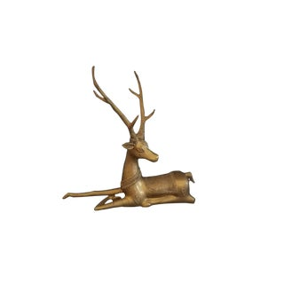 Sarreid Solid Brass Reindeer