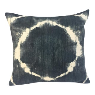 African Grey Tie Dye Mud Cloth Pillow