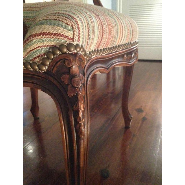 Pair of French Walnut Upholstered Armchairs - Image 3 of 11