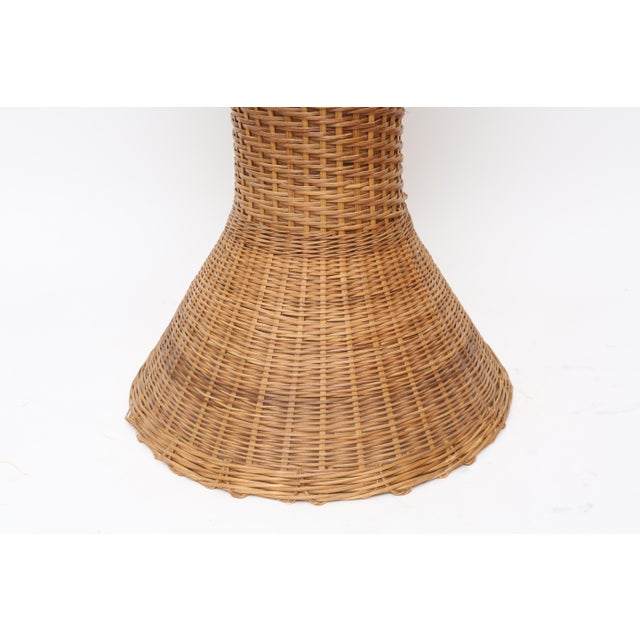 Vintage Oversized Wicker Urn or Vase - Image 5 of 8