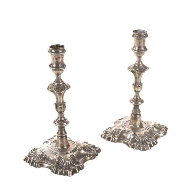 18th Century Sterling Silver Candlesticks - Pair - Image 1 of 10