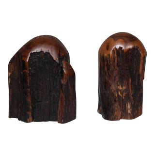 1960s Mid-Century Wooden Salt & Pepper Shakers - A Pair