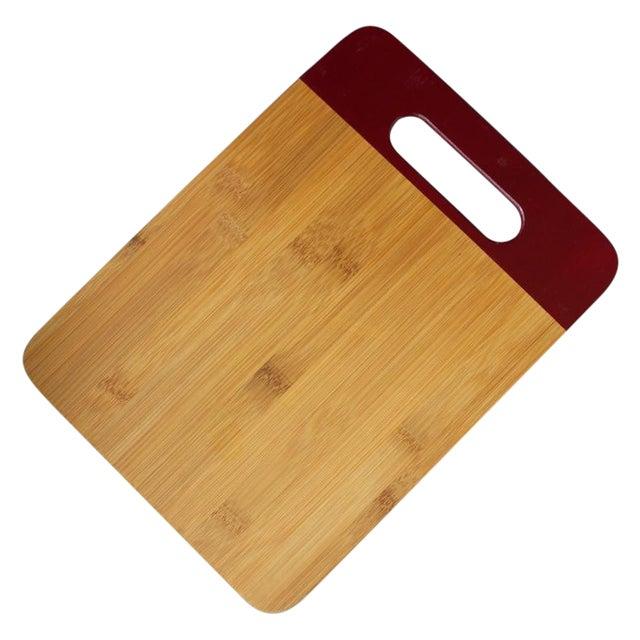 Maroon Bamboo Cutting Board - Image 1 of 3