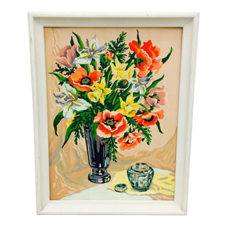 Vintage Arts & Crafts Floral Still Life Painting