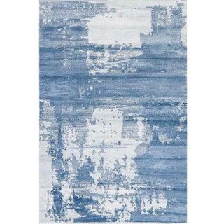 Blue Ivory Damask Rug 8′ × 11′4″