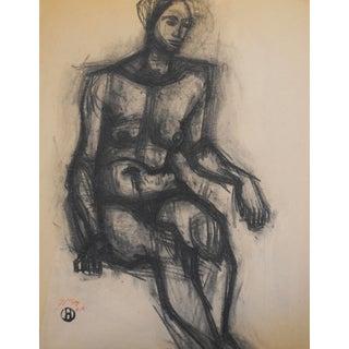 1940 Charcoal Drawing by Richard Hackett
