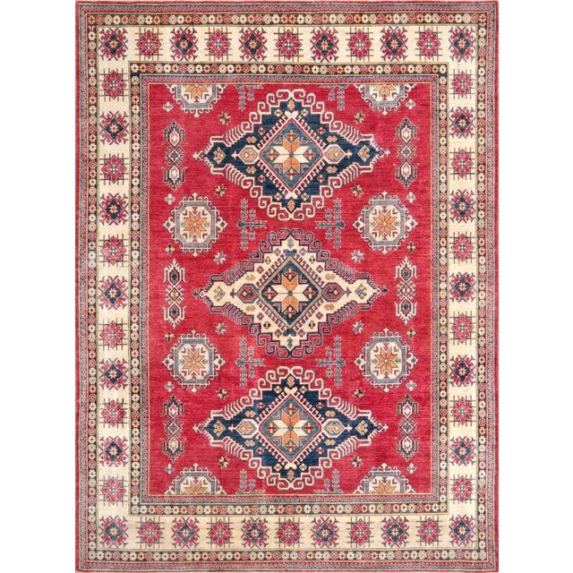 "Pasargad Kazak Hand Knotted Wool Rug - 10' x 13'9"" - Image 1 of 2"