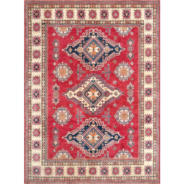 Image of Pasargad Kazak Hand Knotted Wool Rug - 10' x 13'9""