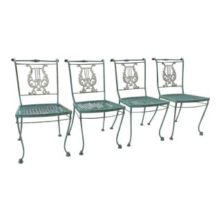 Italian Neoclassical Patio Chairs - Set of 4