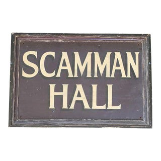 Vintage Scamman Hall Sign