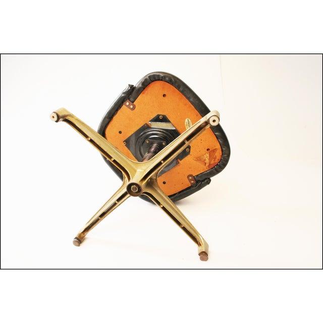Chromcraft Mid-Century Black Swivel Dining Chair - Image 8 of 11
