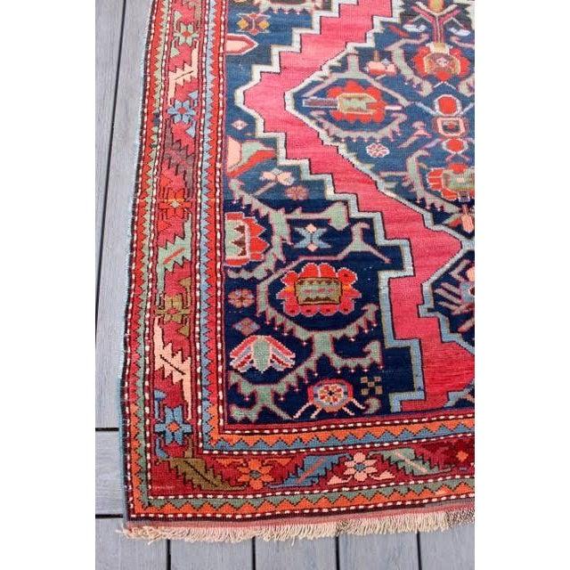 "Semi-Antique Caucasian Kazak Runner - 4'4"" x 10'1"" - Image 7 of 9"