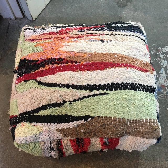 Multi Color Moroccan Floor Pouf - Image 2 of 4