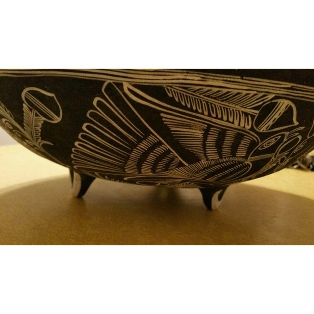 Mexican Handpainted Bowl With Birds, X. Guerrero - Image 8 of 8