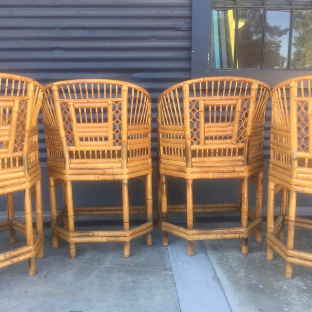 Vintage Brighton Style Rattan Chairs- Set of 4 - Image 6 of 9