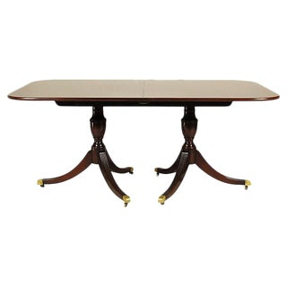Regency-Style Inlaid Dining Table