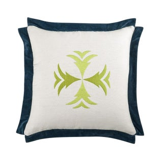 "Piper Collection Navy Velvet ""Hattie"" Pillow"