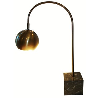 Mid-century Style Table Lamp with Marble Base