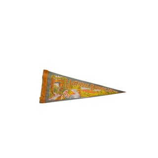 Vintage Natural Bridge VA Hotel And Falls Felt Flag Pennant