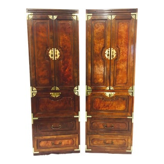 Mid-Century Asian Style Cabinets - A Pair