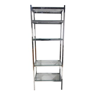Mid-Century Chrome Bookcase Etagere